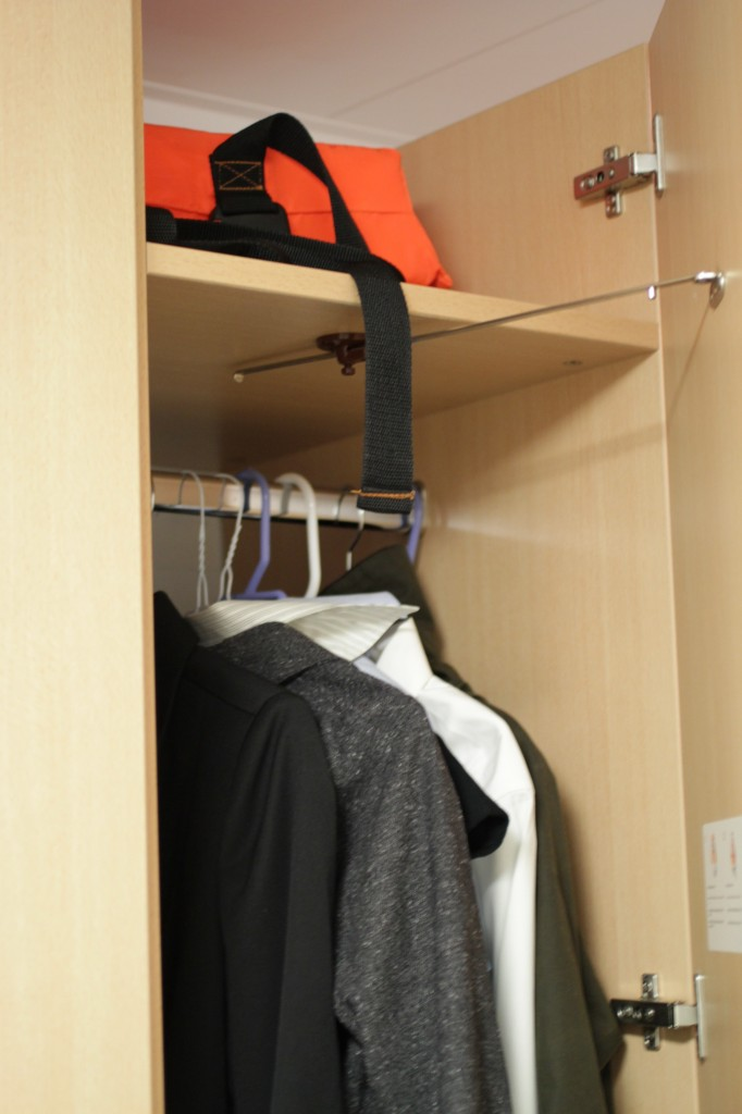 This is the small closet I have my clothing in